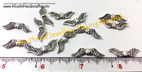 Antique silver Angel wings charms.Sold as a pack of 6 pieces!SP11-4