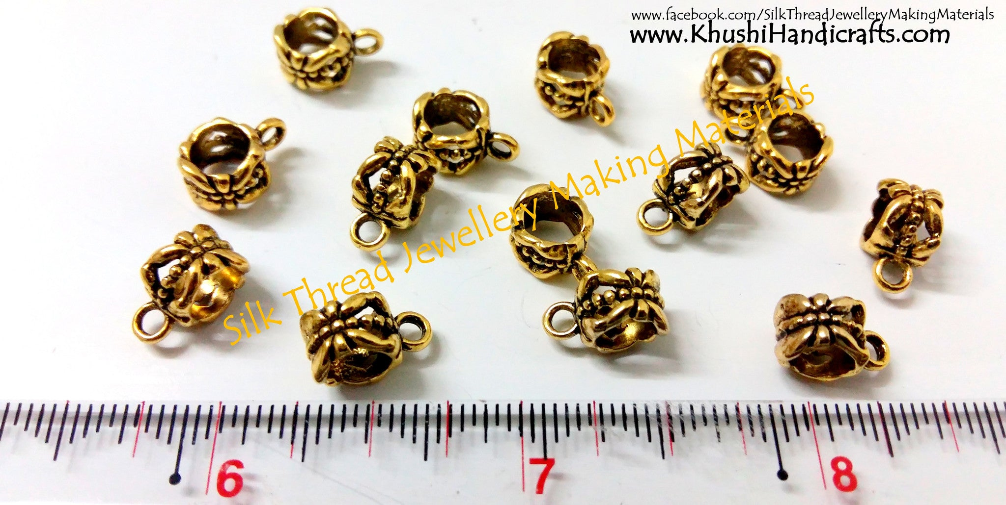 High Quality Antique Gold Bails - Khushi Handmade Jewellery