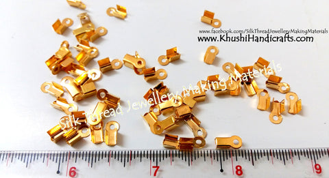 Cord End Crimp Clasps Gold