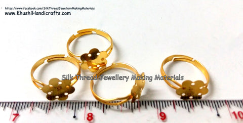 Finger Ring Bases in Gold and Silver