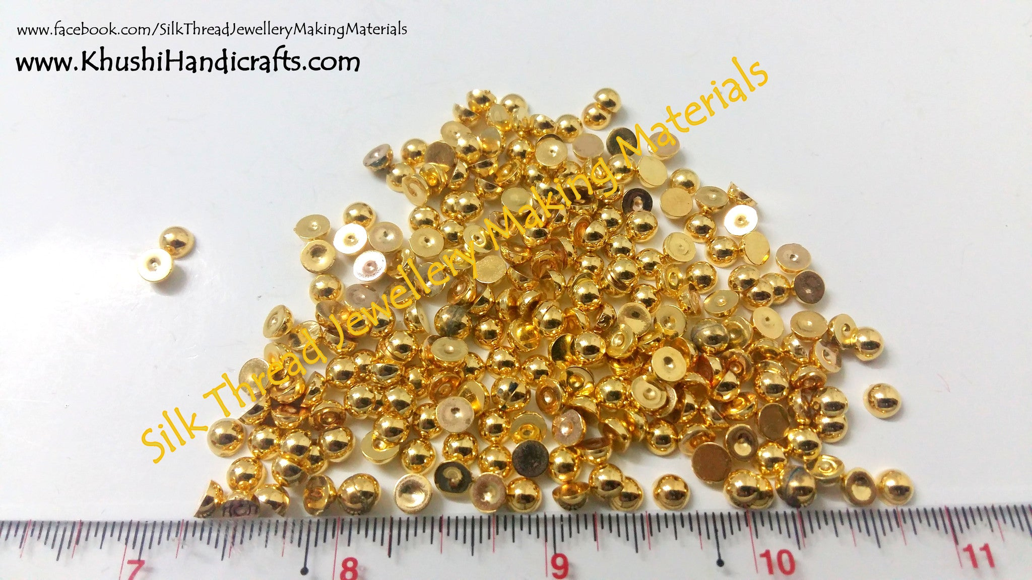 Acrylic Gold beads Pack of 10 grams - Khushi Handmade Jewellery
