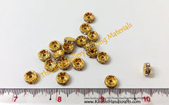 Rhinestone Spacer / Stone spacers. Sold as a pack of 20 pieces! - Khushi Handmade Jewellery