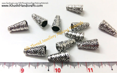 Antique Silver Cone Bead Caps -BC6