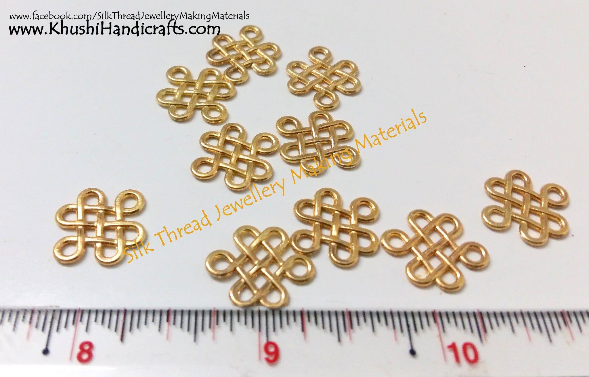 Antique Gold Spiral charms.Sold per pair! - Khushi Handmade Jewellery