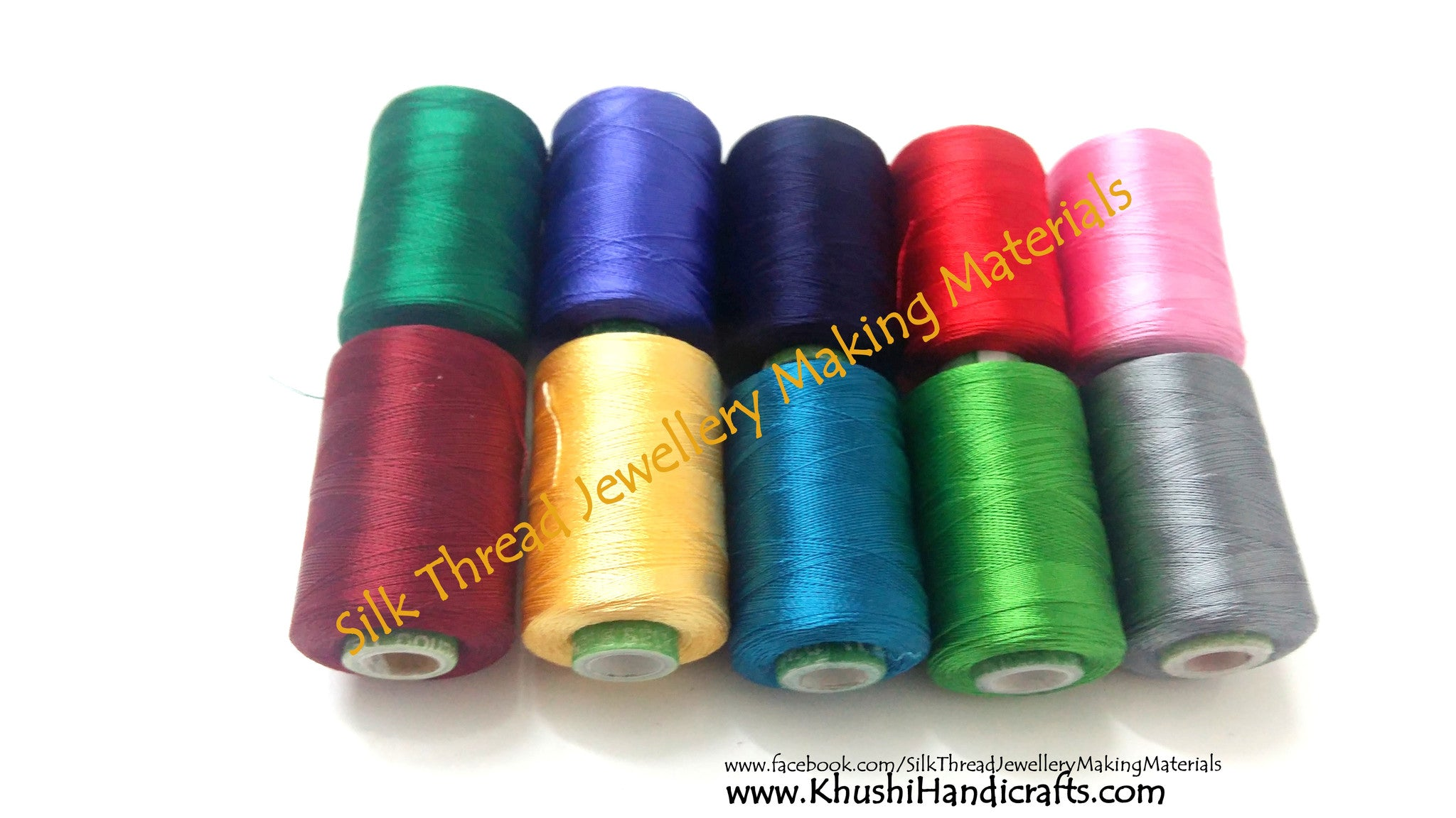 Silk Thread Spool Combo 2 - Khushi Handmade Jewellery