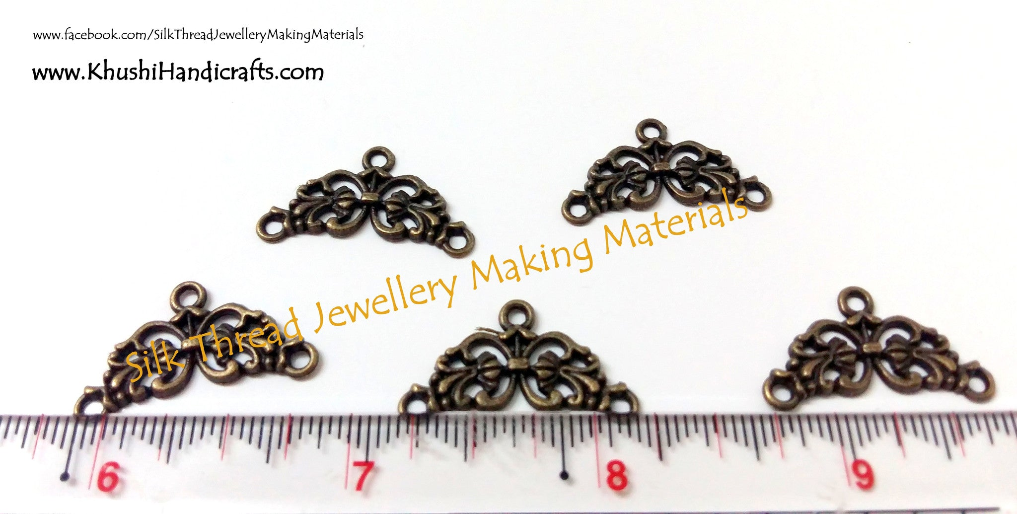 Antique Bronze Designer Earring Connector - Khushi Handmade Jewellery