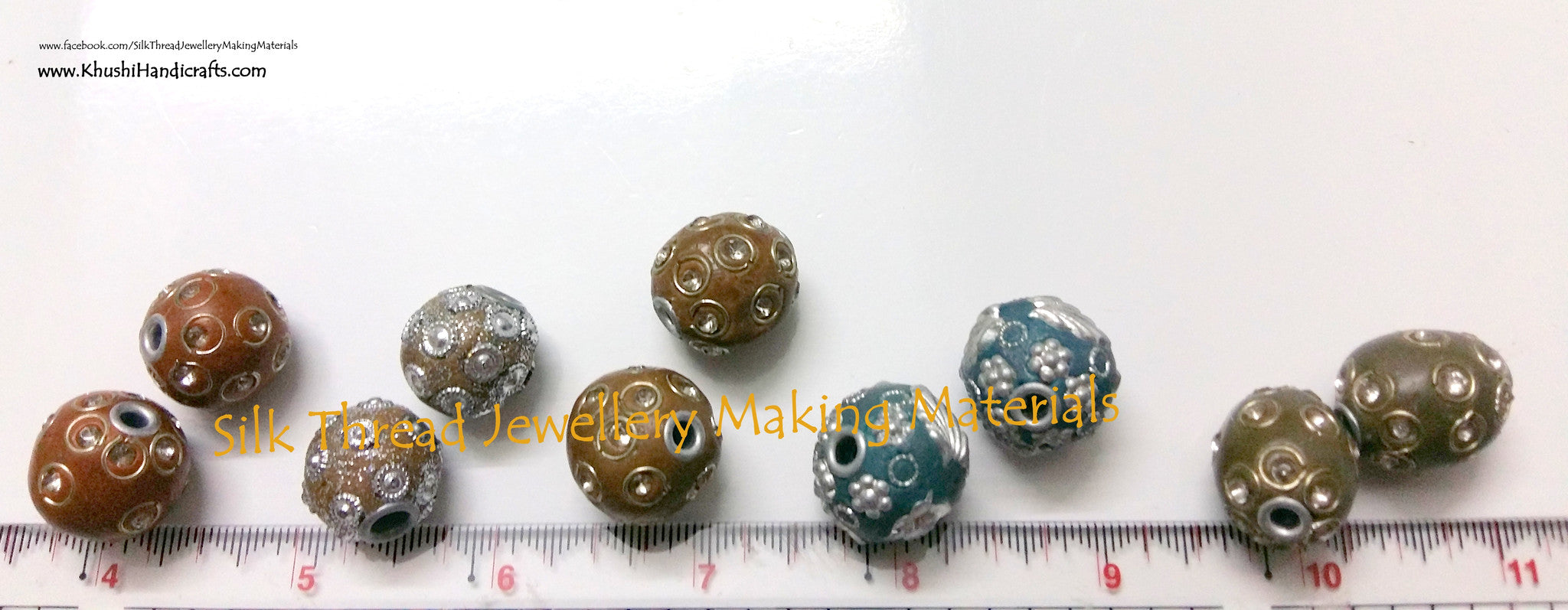Combo of 5 pairs of Designer Handcrafted Beads.Jewellery Materials