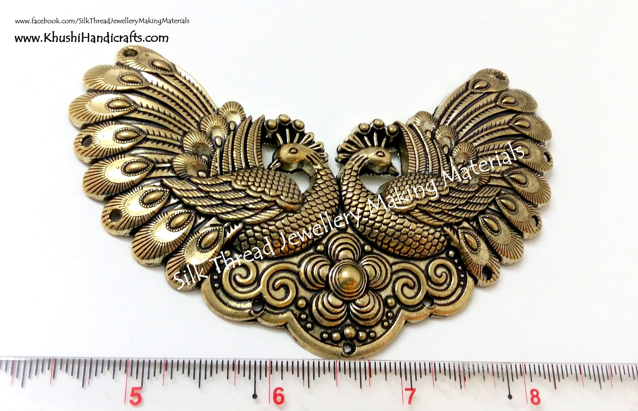 Antique Gold Peacock Pendant