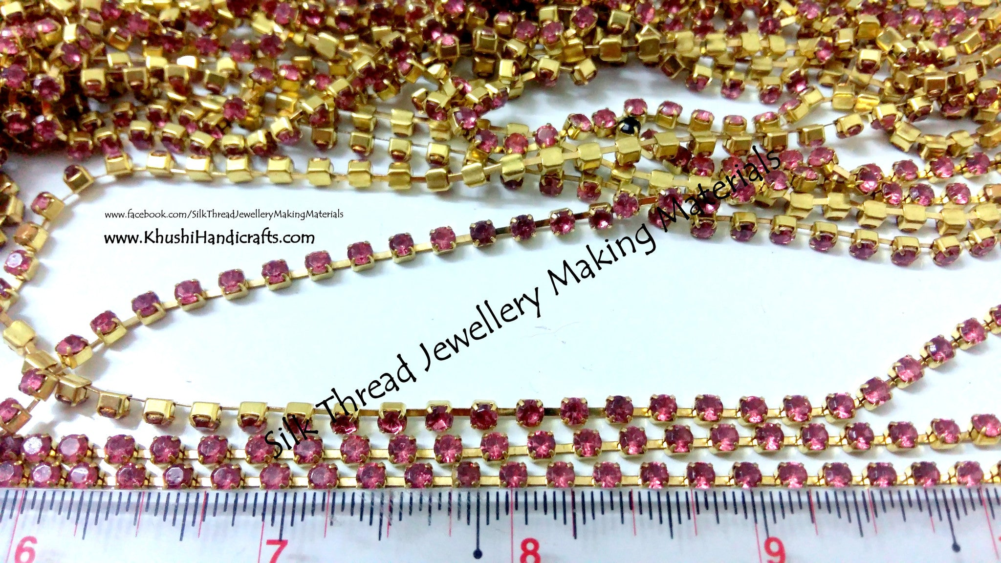 Pink Stone chain Jewellery Material
