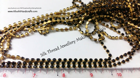 Black Stone Chain.Pack of 5 meters!