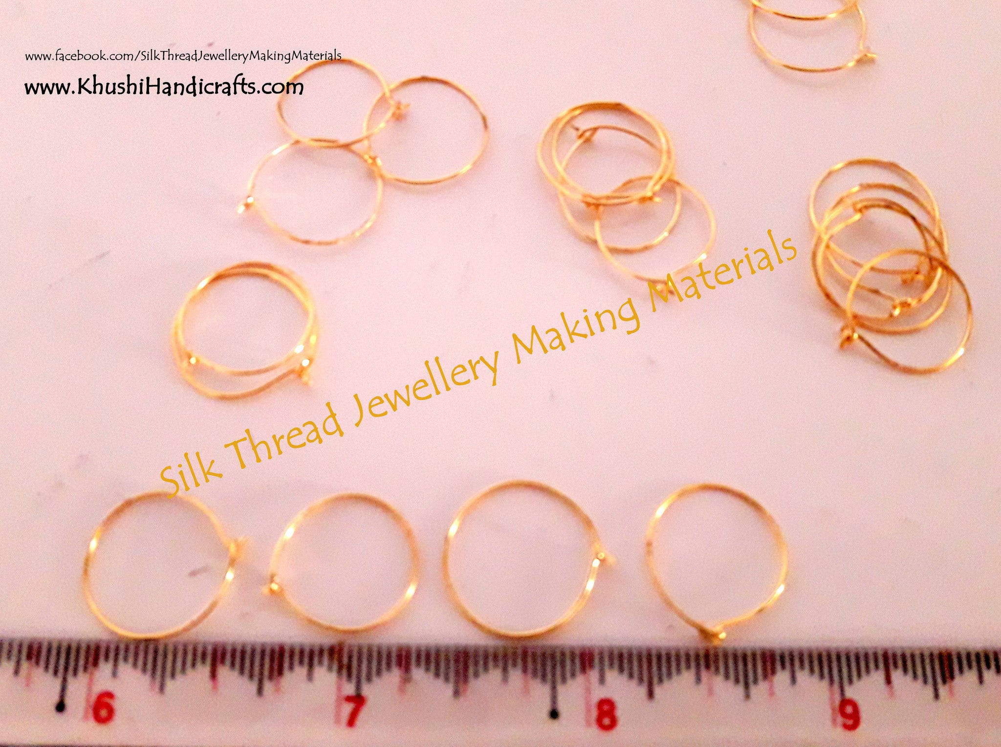 Gold Earring Hoops Sold by a pack of 10 pairs - Khushi Handmade Jewellery