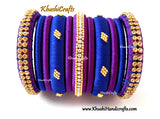 Blue and Purple designer Silk thread bangles