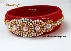 Red Silk thread Kada Bangle