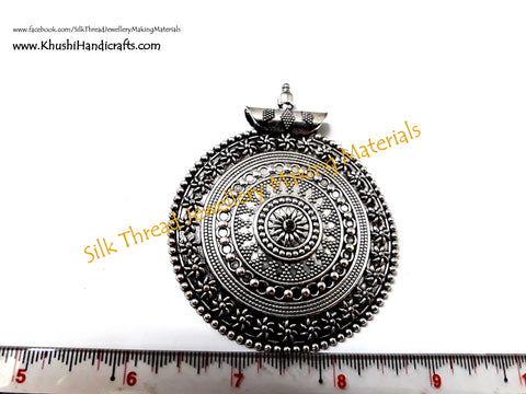 Buy pendants for jewelry making german silver pendants for german silver designer circular pendant p07 aloadofball Images