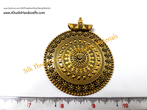 Antique Gold Round Designer Pendant .Sold per piece! P07