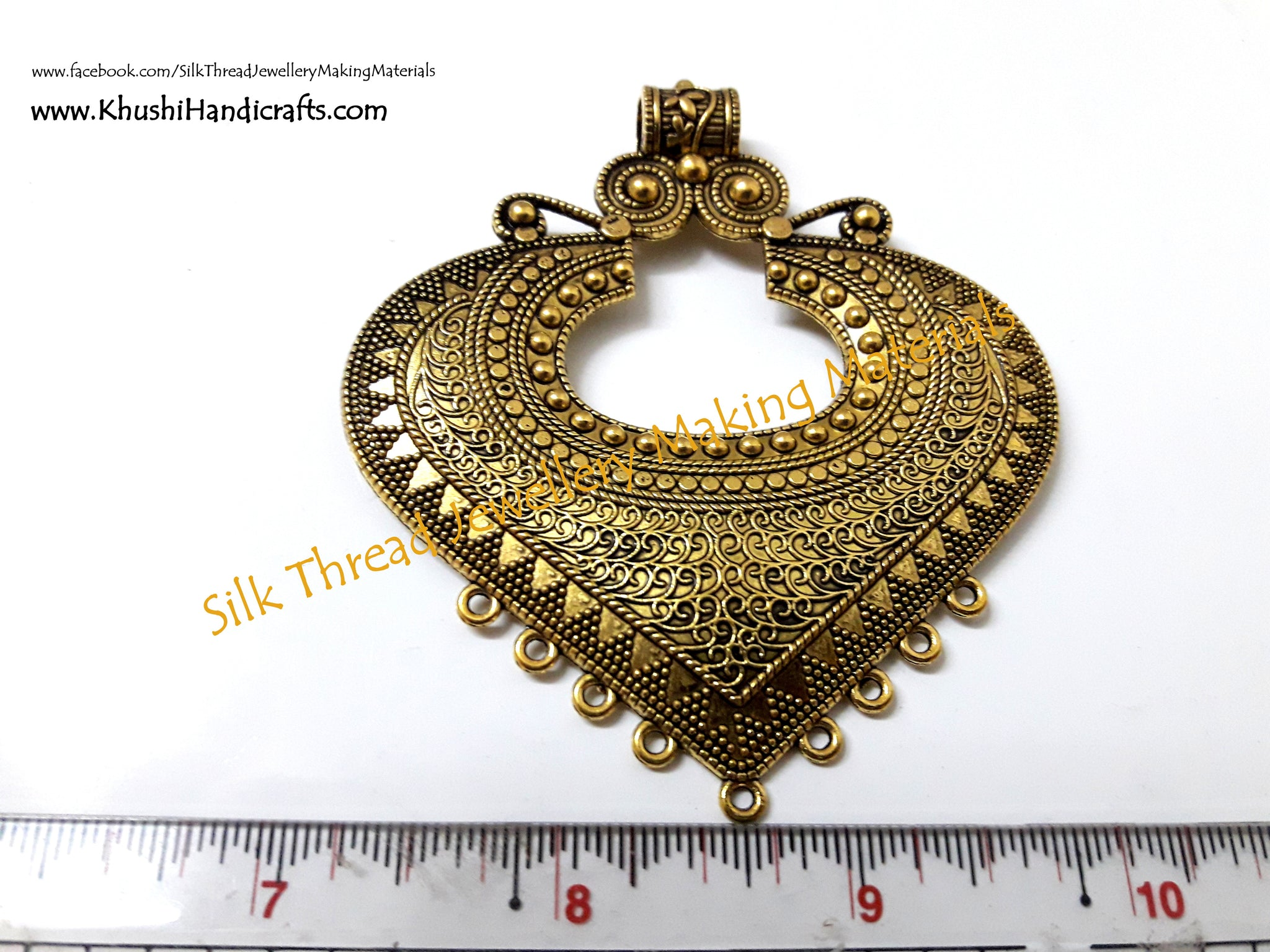 Antique Gold Designer Pendant 3. Jewellery Materials!
