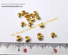 Antique Gold / Silver Crimp beads Covers 4.5mm