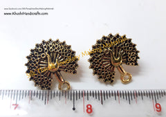 Antique Gold Peacock Stud pattern 12..Jewelry materials