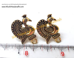 Antique Gold Peacock Stud pattern 13..Jewelry materials