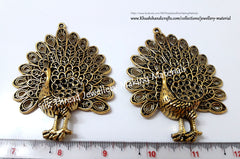 Antique Gold Designer Big Peacock Pendant .Jewelry Material