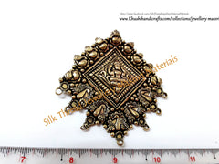 Antique Gold Designer Big Lakshmi Pendant .Jewelry Materials