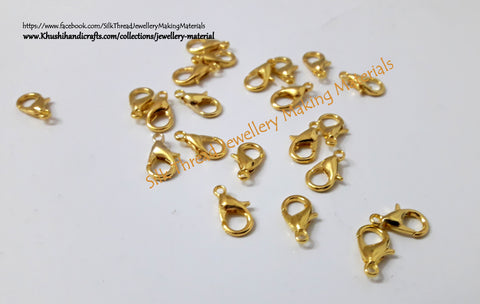 Lobster Clasps in Gold.Sold per piece! T13