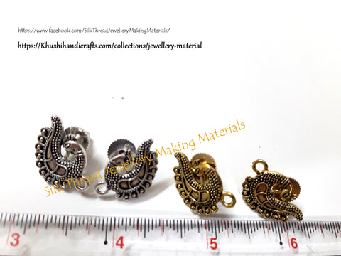 Antique Silver / Gold Peacock Stud pattern 11 -ST6