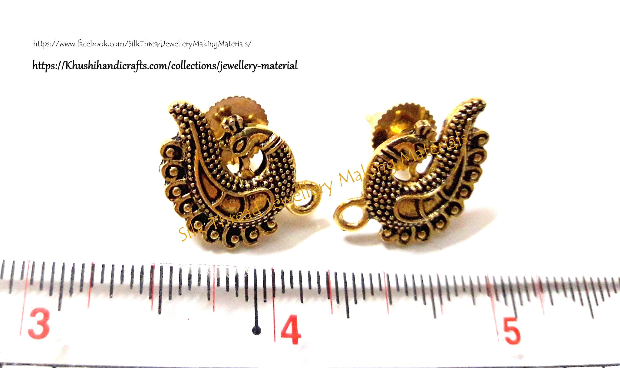 khushi antique silver handicrafts stud peacock gold products pattern