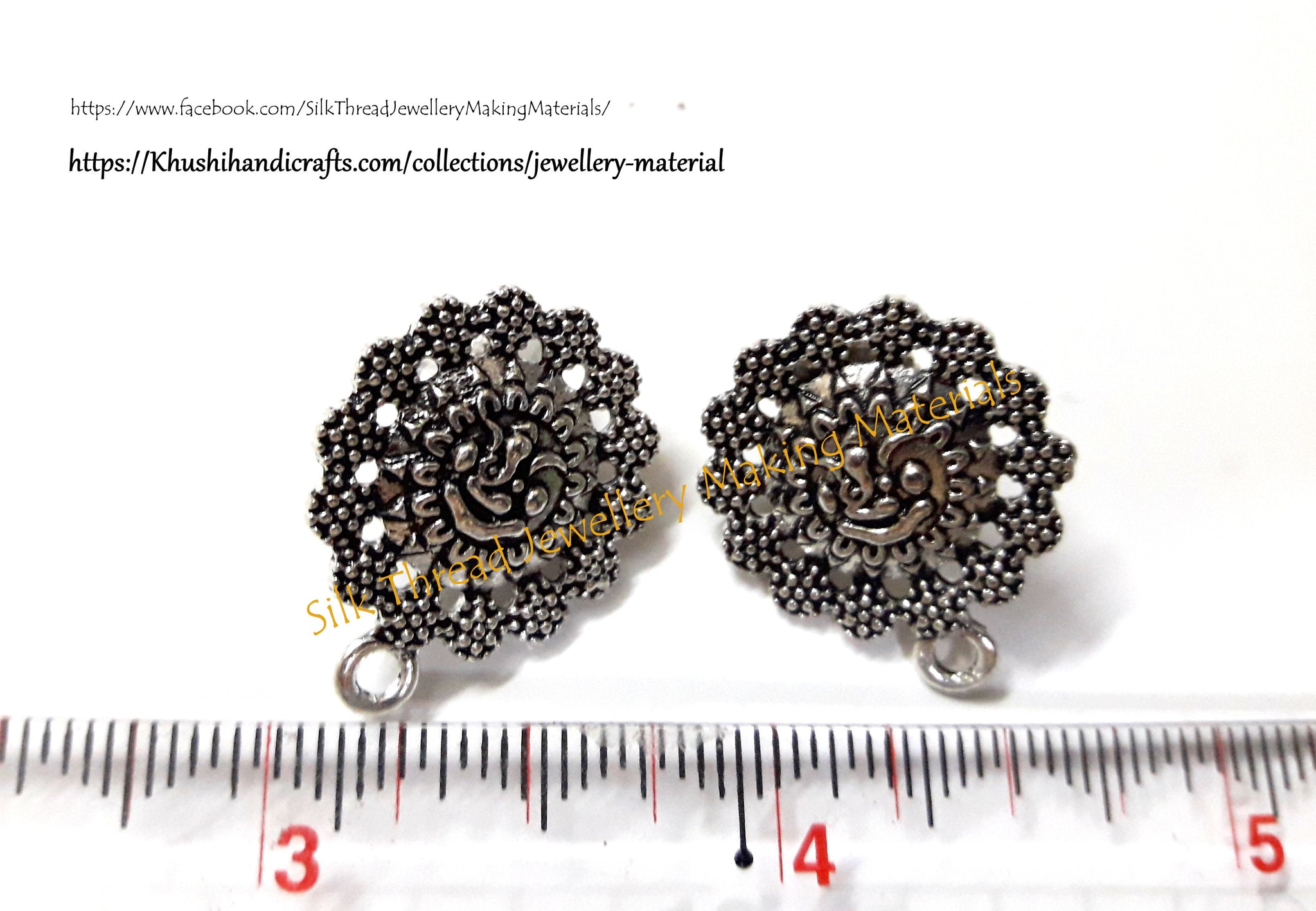 handicrafts antique peacock khushi gold stud silver pattern products