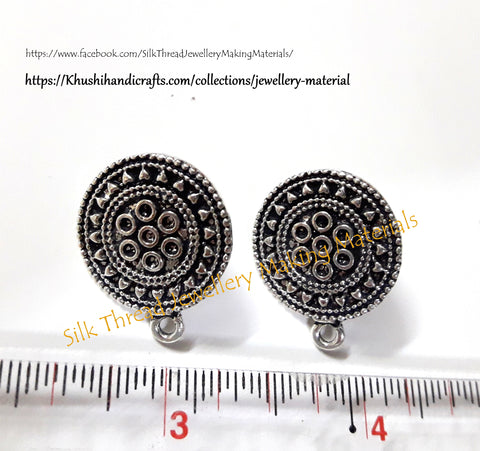 Antique Gold/Silver Circular Stud/studs Pattern 2 -ST3