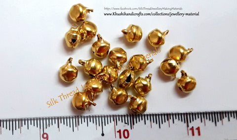 Gungaroo/ghungroo Beads /Bell beads .Pack of 20 pieces!