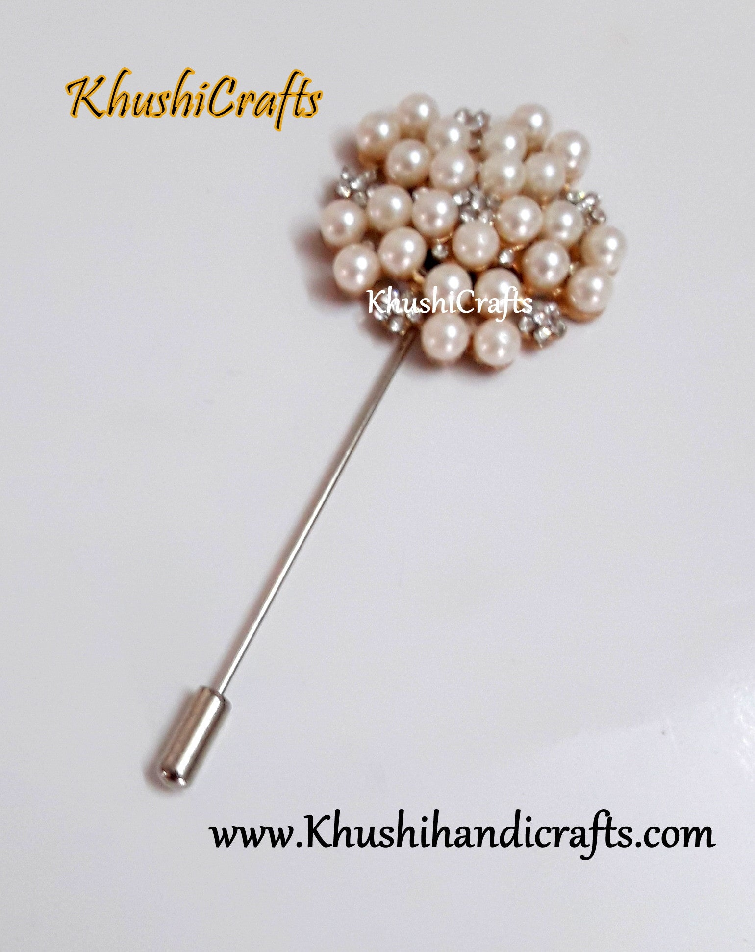 Designer Pearl and Stone Saree Brooch's