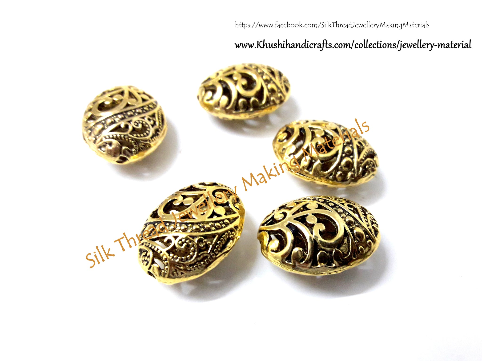 Antique Gold Designer Spacer /Connector Beads .Sold per piece.