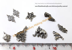 Antique Silver charms /Connectors /Stud/Spacer combos(As indicated in the picture)