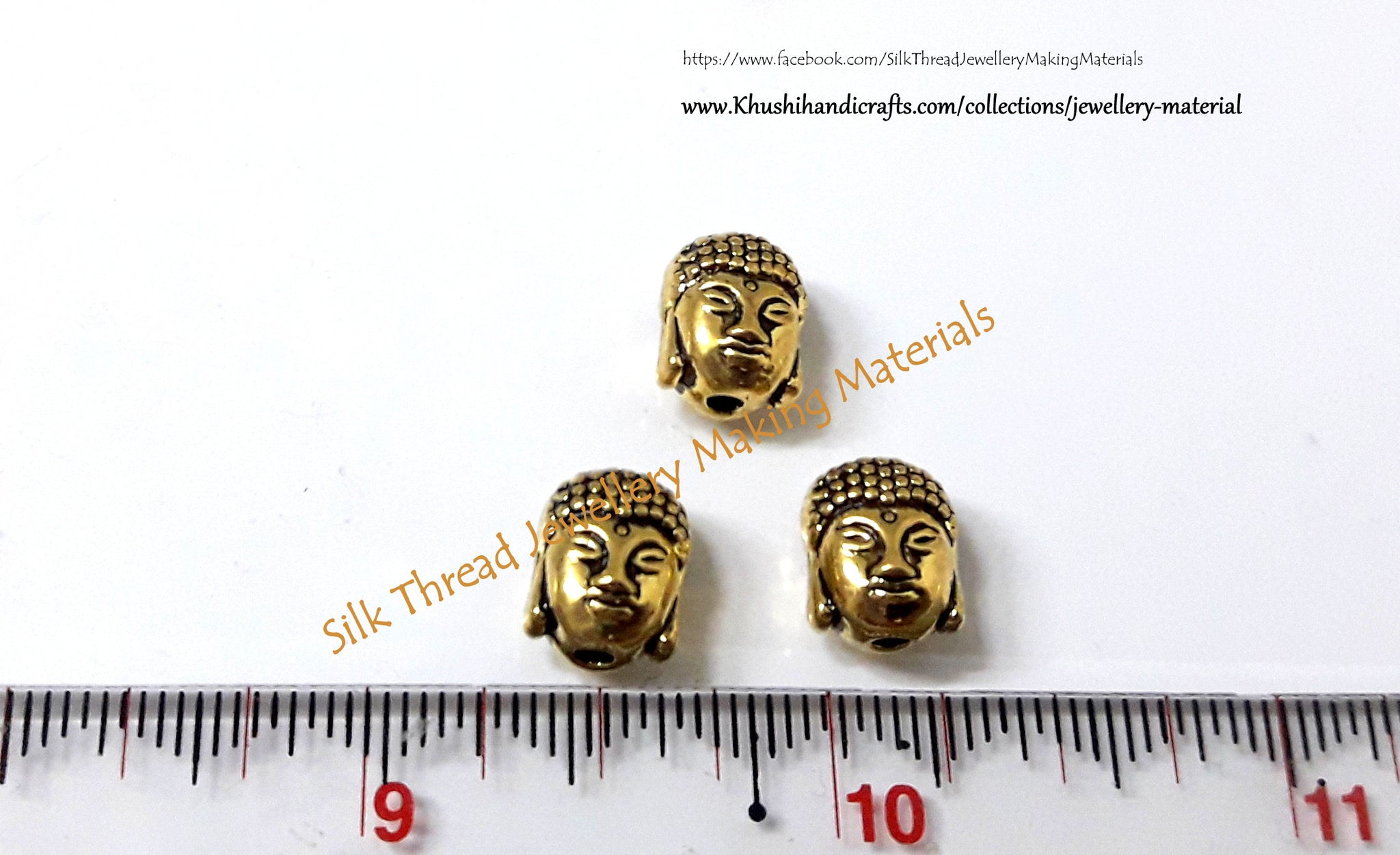 Antique Gold Buddha Spacer Beads