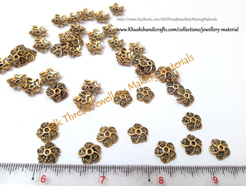 Antique Gold Multiple leaf Bead Cap -BC32