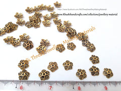 Antique Gold Multiple flower bead caps