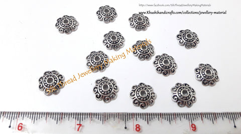 Antique Silver Bead Cap 12mm -BC2