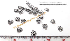 Designer Antique silver bead cap