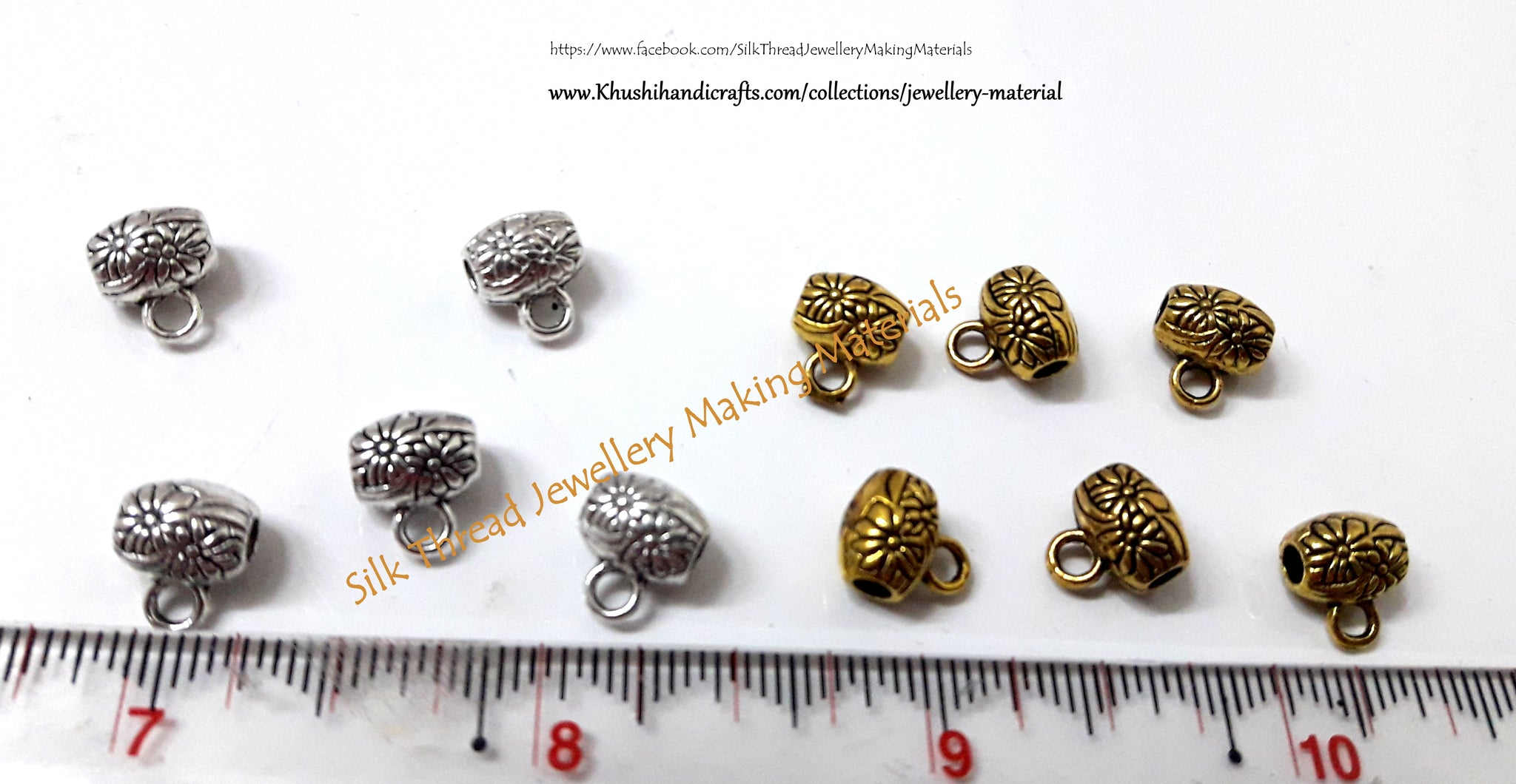 Antique Gold Bails for Jewelry Making