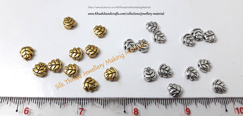 Antique Gold / Silver Leaf charms.Sold as a set of 10 pieces!