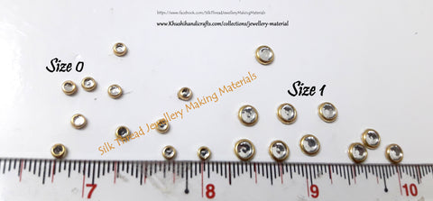 Kundan stones /Kundans - Round. Pack of 10 grams!