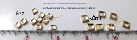 Kundan stones /Kundans - Square. Pack of 10 grams!