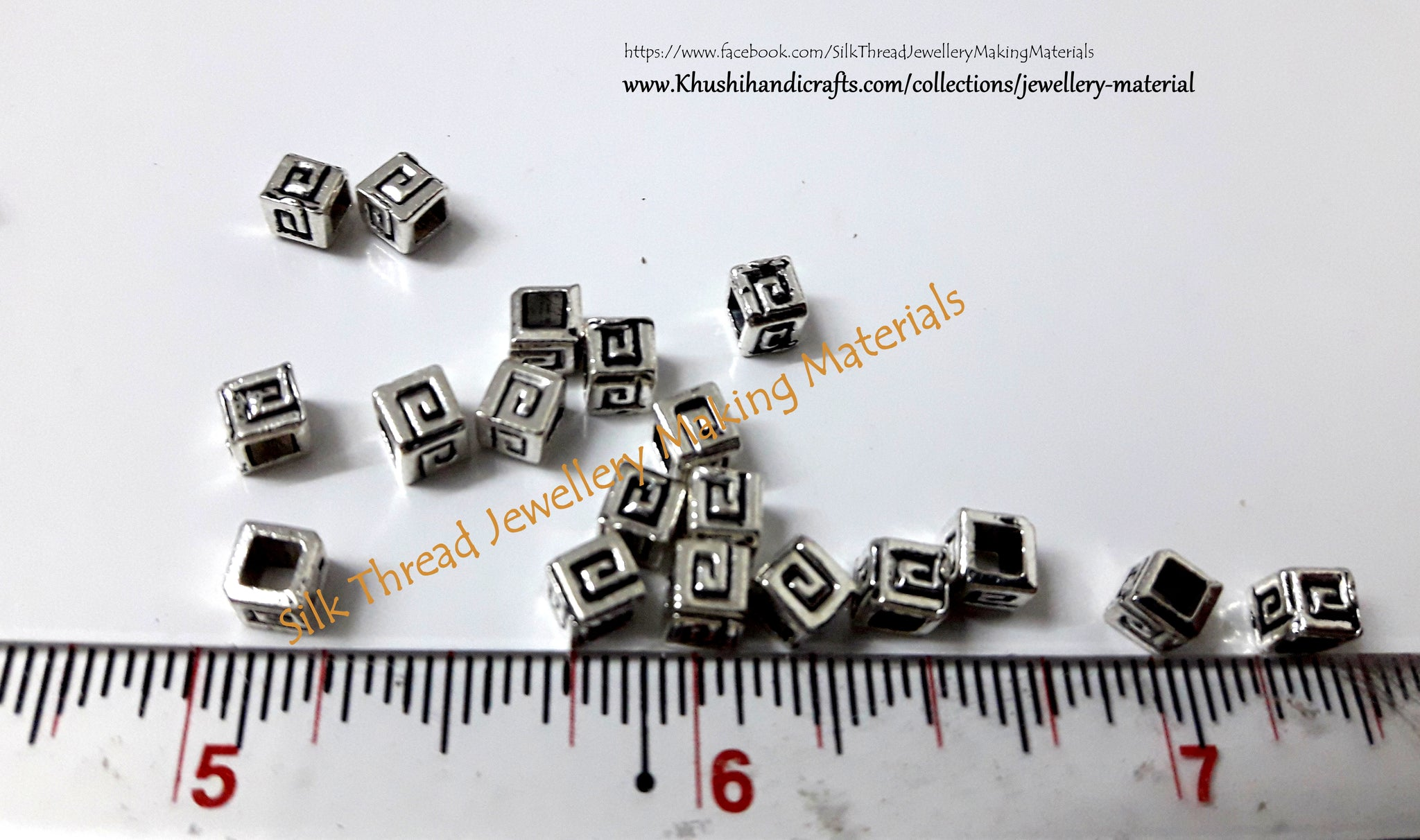 Buy Rectangular spacer beads online in India | Jewelry Making Materials