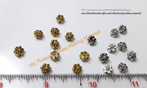 Gold/Silver Flower spacer beads.Sold as a pack of 20 pieces! -SP28