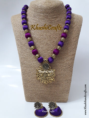 Silk Thread Jewelry in Shades of Purple!