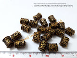 Antique Finish Cylindrical Geru Beads 16mm