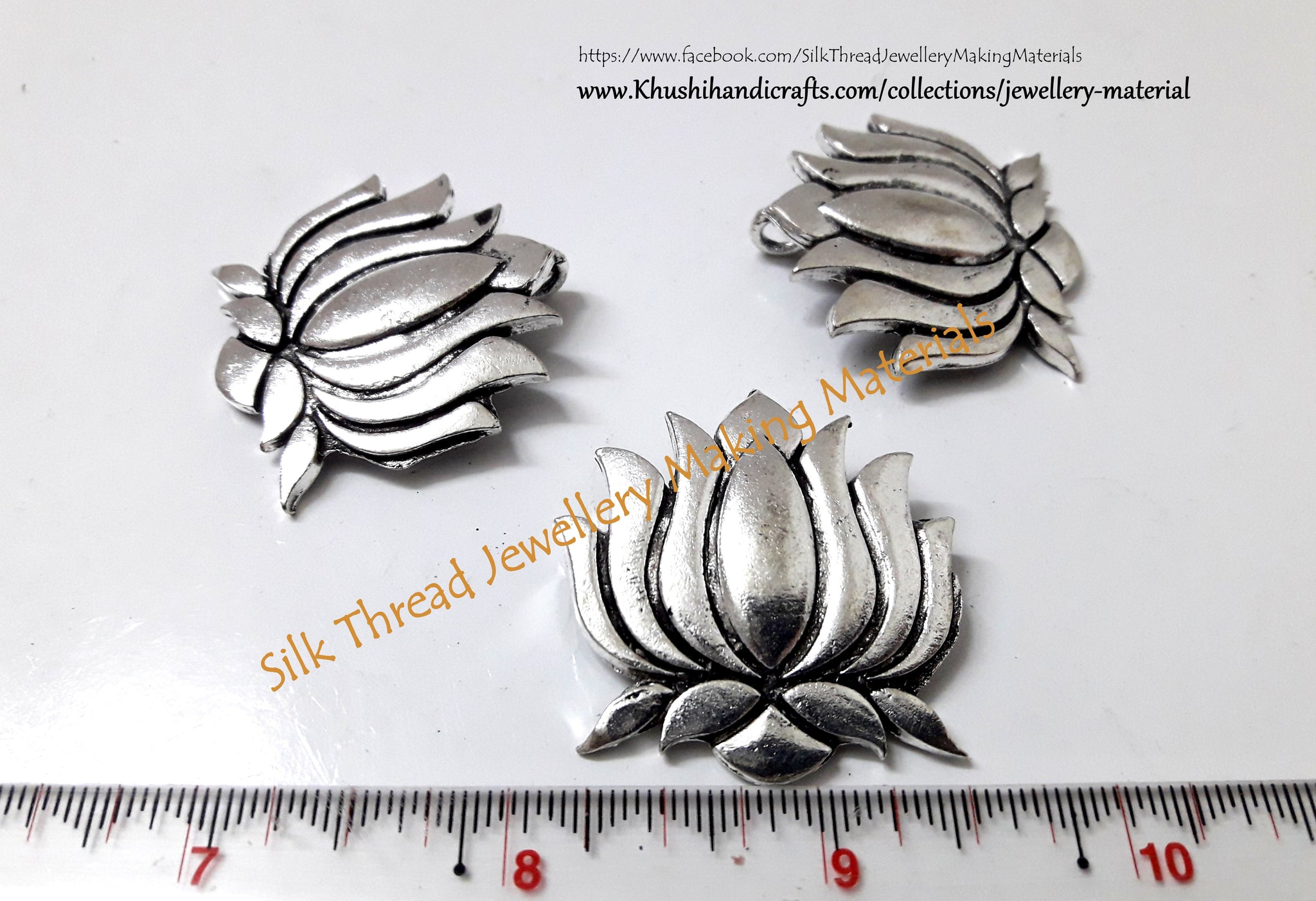 Antique Silver Lotus Pendant