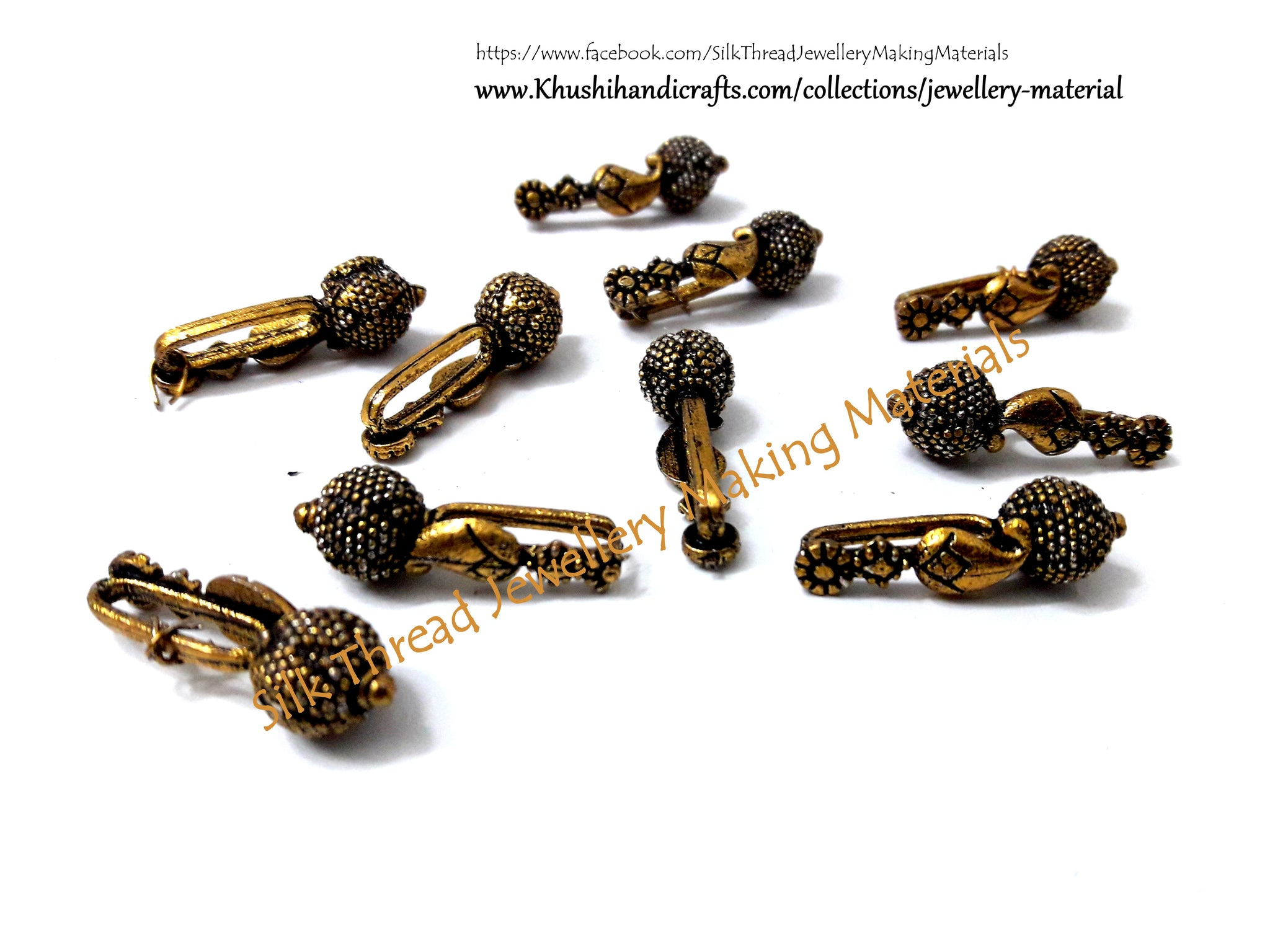 Kolhapuri beads in Antique Silver Pattern 7.Sold Per piece!