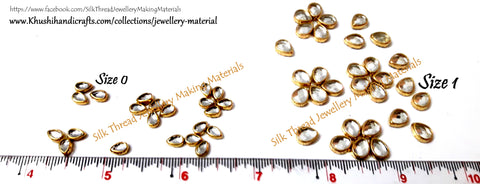 Kundan stones /Kundans - Tilak Shaped. Pack of 10 grams!